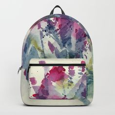 Flower Impression / Bursting Bouquet Backpack by rsstudio Herschel Heritage Backpack, Fashion Backpack, Back To School, Bouquet, Backpacks, Abstract, Floral, Flowers, Bags