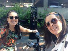 Riding a bike!