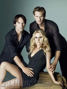 "Stephen Moyer, Anna Paquin, and Alexander Skarsgard photographed by Matthew Rolston in a photo shoot for ""Rolling Stone"" magazine sept 2010......"