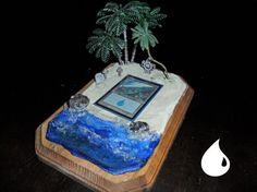 Magic The Gathering Graveyard Holder ISLAND by GraveyardMagic