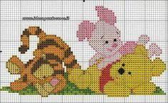 punto croce winnie the pooh Cross Stitch Baby, Cross Stitch Kits, Cross Stitch Designs, Cross Stitch Patterns, Pixel Crochet, Crochet Cross, Cross Stitching, Cross Stitch Embroidery, Pinterest Cross Stitch