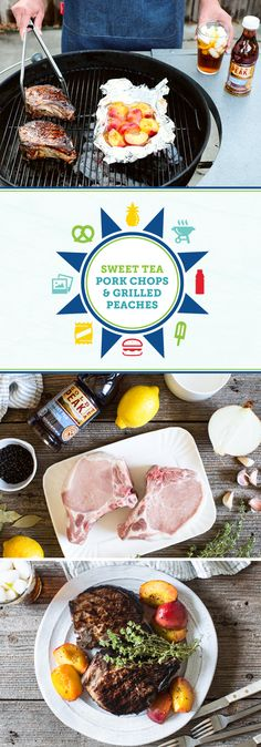 Your favorite summer drink—Gold Peak® Tea—becomes a delicious marinade in this recipe for Sweet Tea Pork Chops with Grilled Peaches. When you're looking for a juicy entree or fun meal idea, this recipe is sure to do the trick—especially when you pair it with a cold glass of Gold Peak® Tea. And by picking up the delicious ingredients you'll need for this dinner at Sam's Club, you've just made getting a flavorful dish on the table so much easier!