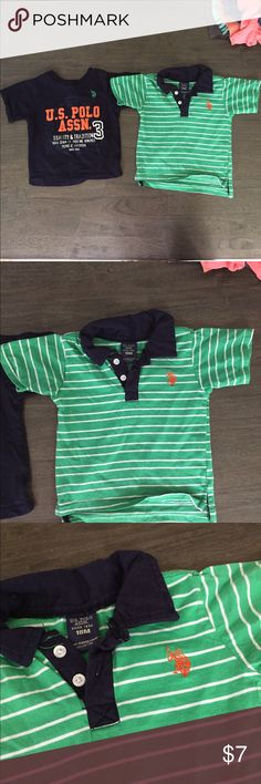 Polo bundle Cute shirts from polo. Green is barely worn. Navy polo was worn a few times. In great used condition. All kid clothes come from a smoke free dog loving home. Please bundle and save on all my cute kid clothes! U.S. Polo Assn. Shirts & Tops Tees - Short Sleeve