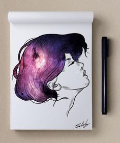 Muhammed Salah Galaxy Painting, Galaxy Art, Watercolor Projects, Watercolor Paintings, Watercolour, Beautiful Paintings, Cool Artwork, Love Art, Art Pictures
