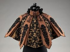 fashionsfromhistory:  Cape Emile Pingat c.1895 MET