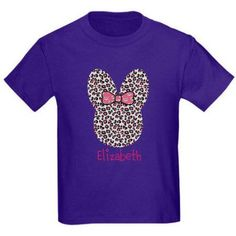 CafePress Personalized Custom Easter Bunny Cheetah T-Shirt, Size: Kids Medium, Purple