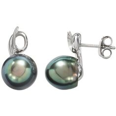 Sterling Silver Tahitian Cultured Pearl Swirl Drop Earrings ($80) ❤ liked on Polyvore featuring jewelry, earrings, black, cultured pearl drop earrings, cultured pearl jewelry, fresh water pearl jewelry, sterling silver drop earrings and swirl earrings