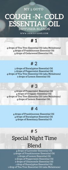 My 5 goto cough -N- cold essential oil diffuser blends (scheduled via http://www.tailwindapp.com?utm_source=pinterest&utm_medium=twpin&utm_content=post160348329&utm_campaign=scheduler_attribution)