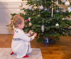Princess Estelle getting ready for Christmas