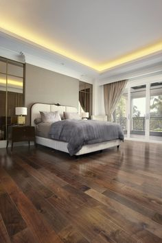 Best Of Wood Flooring Ideas Hardwood Bedrooms Engineered American Black Walnut flooring in natural acrylic Bedroom Wooden Floor, Dark Wood Bedroom Furniture, Walnut Bedroom, Walnut Furniture, Bedroom Flooring, Loft Flooring, Walnut Floors, Hardwood Floors, Dark Hardwood