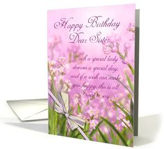 Birthday wife hearts and flowers lilac white with verse love sister birthday card pink feminine floral with verse card 659115 bookmarktalkfo Gallery