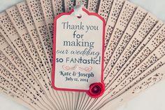 Wedding Fan • Favour Fan Personalised Gift Tags •Destination and Modern Weddings