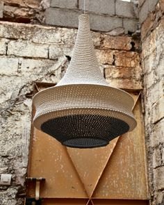 Design for Good! On the road to the Atlas Mountains at the far reach of Marrakesh city rests a little village where a community of women handcraft our crochet pendant lights. By partnering with these women we hope to keep their traditional skills alive and help create a better future for them and their families. This one is a Large Joosh Pendant in Soft White and Black & White mix.  They are made to order in a range of models, sizes and many colours and shipped worldwide. Crochet Lamp, Hand Crochet, Pendant Set, Pendant Lights, Black White, Diy Luminaire, Pendant Light Fitting, Asian House, Models