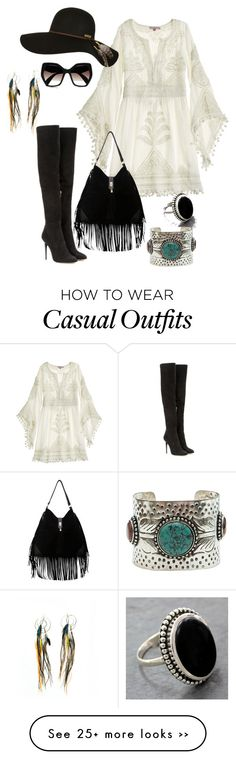 """""""Casual"""" by nikke9doors on Polyvore featuring Calypso St. Barth, Jimmy Choo, Billabong, Prada, NOVICA and Ruby Feathers"""