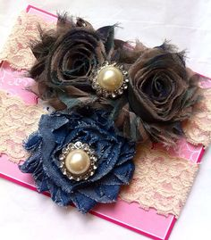 Camouflage and Denim Wedding Garter, Rustic Garter,  Western  Garter, Bridal