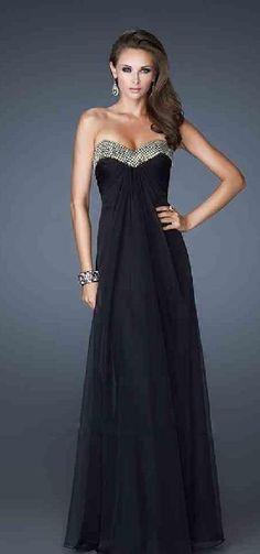 Elegant A-Line Chiffon Long Sleeveless Sweetheart Prom Dresses In Stock lkxdresses64845hg #longdress #promdress