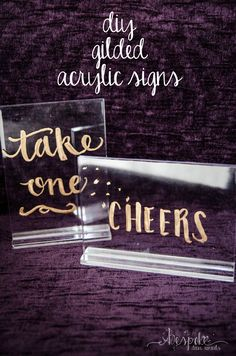 Diy gilded acrylic signs for weddings and events buy acrylic print diy gilded acrylic signs for photo booth instructions solutioingenieria Gallery