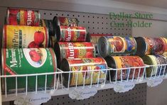 Organizing Canned Foods - 150 Dollar Store Organizing Ideas and Projects for the Entire Home