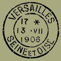 STENCIL Vintage French Versailles Postage by ArtisticStencils, $14.00
