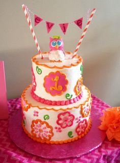 Cutest first birthday cake ever!!!!