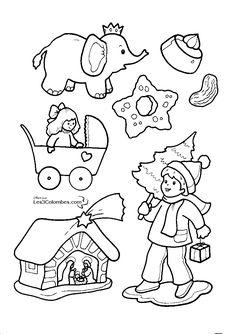 dessin père noël devant sapin a colorier dessin colorier et