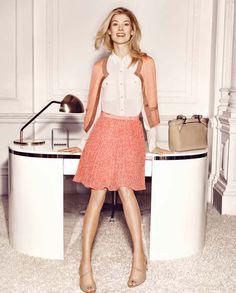Rosamond Pike, Skater Skirt, Midi Skirt, My Favorite Year, Pride And Prejudice 2005, New Face, Get The Look, Blond