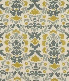 Beacon Hill Matte Fleur Blue Smoke Fabric - $125.95   onlinefabricstore.net