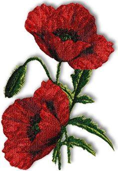 Advanced Embroidery Designs - Scarlet Poppy