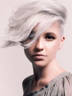 gotta have perfect skin to pull off the gray hair look
