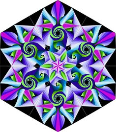 Did you figure out how Galaxies was made? It is all paper pieced, but you already figured that out. It is made from several major shapes, . Quilt design, construction and problem solving. 3d Quilts, Star Quilts, Mini Quilts, Barn Quilt Patterns, Paper Piecing Patterns, Quilting Projects, Quilting Designs, Quilt Design, Optical Illusion Quilts