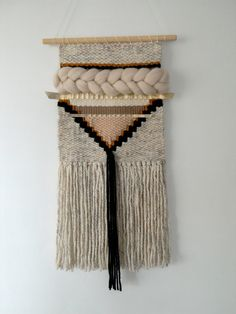 Woven wall hanging/textile weaving/wall art by ByBellaDesigns