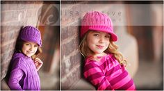 Take girls to a brick wall (there is a great one downtown with weathered paintings on them) and take their photos.