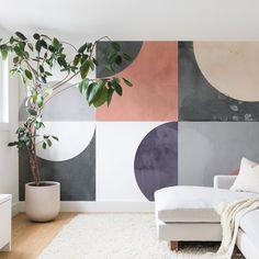 Buy Wall Mural with Geometric Moontime designed by Emanuela Carratoni. Bedroom Wall Designs, Bedroom Murals, Mural Art, Wall Murals, Wall Decor, Room Decor, Minimalist Room, Creative Walls, Geometric Wall
