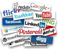 Imagenes y logos de diversas redes sociales