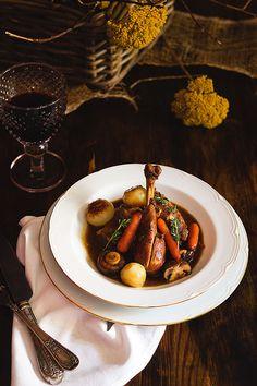 Yerbabuena en la cocina: Pollo al vino tinto