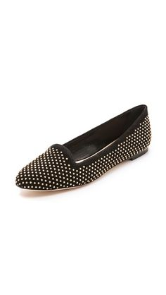 blaise studded suede loafers / loeffler randall