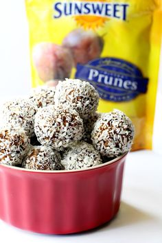 Two ingredient Prune Power Balls are the perfect pre or post-workout or anytime snack- loaded with antioxidants, fiber and flavor! #TheFeelGoodFruit #CG
