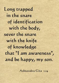 A quote from the Ashtavakra Gita