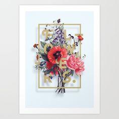 Flowers Poster N2 Art Print