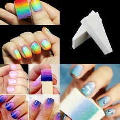 8pcs Woman Salon Nail Sponges for Acrylic Makeup Pedicure Manicure Nail Art Accessory Nail Art Tool