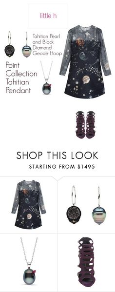 """LITTLE h JEWELRY"" by hibaofficiel ❤ liked on Polyvore featuring Valentino, Giuseppe Zanotti, pearljewelry and littlehjewelry"