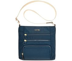 2e5cc156804 Calvin Klein Nylon CrossbodyNavy ** See this great product. Cross Shoulder  Purses, Shoulder