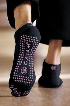 Trend Alert: Yoga Socks - These sole-ful socks help you get a grip (on your yoga mat) and keep your feet clean.