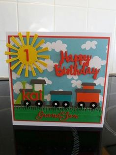 ideas baby cards boy birthday parties for 2019 Birthday Cards For Boys, Baby Boy 1st Birthday, Handmade Birthday Cards, Boy Birthday Parties, Greeting Cards Handmade, Special Birthday, Boy Cards, Kids Cards, Baby Food Jar Crafts