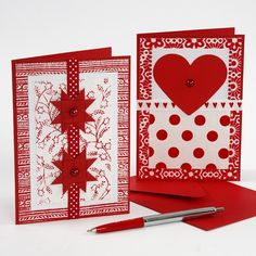 tarjetas de navidad decorado con papel hecho a mano