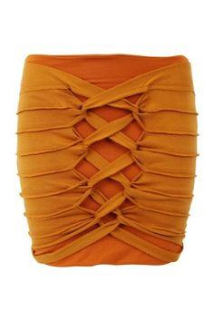 #autumndreamery - Talulah There Is Light Bodycon Woven Skirt - Ochre $130 @ The Dreamery - Love this autumn orange colour     http://www.the-dreamery.com/Wardrobe/Skirts/There-Is-Light-Bodycon-Woven-Skirt-Ochre