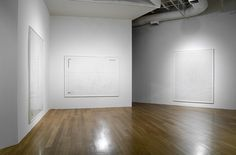 White cut-out drawings (Installation), 2009 Graphite, tape on paper