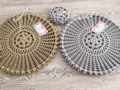 161 Likes, 24 Comments - ÖrgüK Crochet Placemats, Crochet Doilies, Crochet Lace, Thread Crochet, Filet Crochet, Irish Crochet, Crochet Decoration, Crochet Home Decor, Doily Patterns