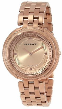 Versace Women's VA7050013 Thea Rose Gold Ion-Plated Stainless Steel Sunray Dial Watch