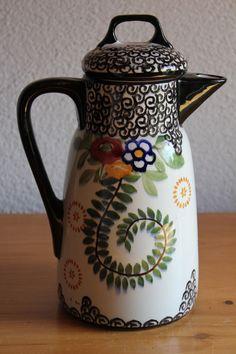 Antike Kakaokanne Schramberger Majolika Smf Kanne Krug Küchendeko